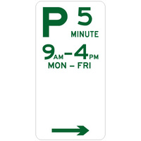 5 Minute Parking (Right Arrow)