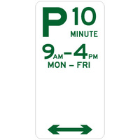 10 Minute Parking (Double Arrow)