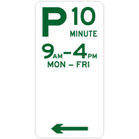 10 Minute Parking (Left Arrow)