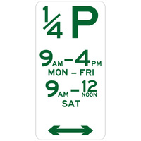 1/4 Hour Parking (Double Arrow)