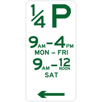 1/4 Hour Parking (Left Arrow)