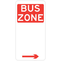 R5-20(R -- 225x450mm - Aluminium - Bus Zone (Right Arrow)