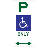 Disabled Parking Only (Double Arrow)