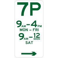 7 Hour Parking (Right Arrow)