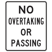 No Overtaking Or Passing