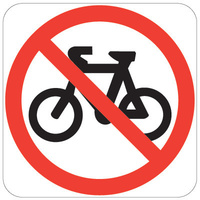 450x450 - AL CL1W - No Bicycles Symbol in Roundell