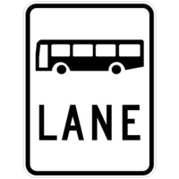 R7-1-1C -- 600x800mm - AL CL1W - Bus Lane