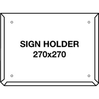 Hazchem Sign Placard Holder 270x270mm