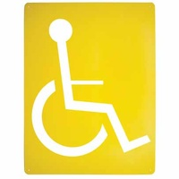 Disabled Wheelchair Stencil Poly