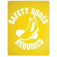 Safety Shoes Required Stencil Poly