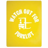 Watch out for Forklift Stencil Poly