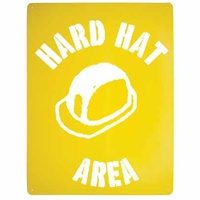 Hard Hat Area Stencil Poly