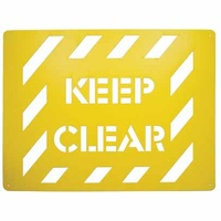 Keep Clear Stencil Poly