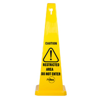 890mm - Safety Cone - Caution Restricted Area Do Not Enter