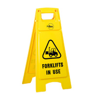 Plastic Sign Stand - Double Sided - Forklifts in Use
