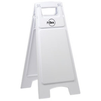 Plastic Sign Stand - Double Sided - Blank White