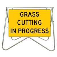Grass Cutting In Progress