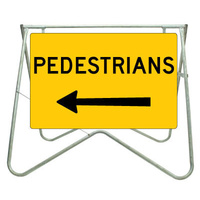 900x600 - Swing Stand and Sign - Pedestrians (Left Arrow)