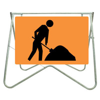 900x600 - Swing Stand and Sign - Symbolic Worker