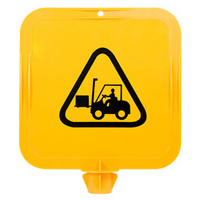 Yellow Lock-in Sign Frame - Forklifts Pictogram