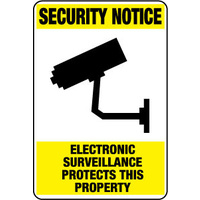 Security Notice Electronic Surveillance Protects This Property