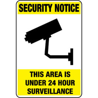 Security Notice This Area Is Under 24 Hour Surveillance