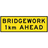 Bridgework __ km Ahead