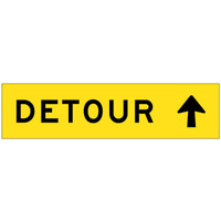 1200x300 - CL1W Flute Board - Detour (Arrow Up)