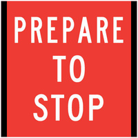 (White/Red) Prepare To Stop