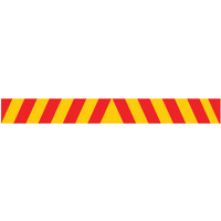 1800x200mm - Self Adhesive - CL2 Reflective - Candy Stripes