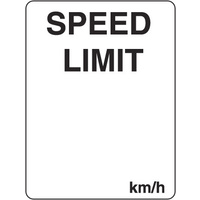 300x225mm - Poly - Speed Limit ...km