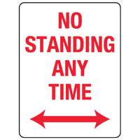 No Standing Any Time with Double Arrow