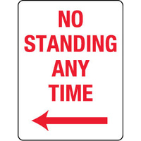 No Standing Any Time with Left Arrow