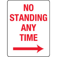 No Standing Any Time with Right Arrow