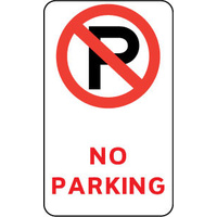 450x300mm - Metal - No Parking (With Symbol)