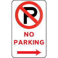 No Parking (With Right Arrow And Symbol)