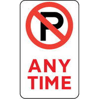 Anytime (with No Parking Symbol)