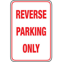 450x300mm - Metal - Reverse Parking Only