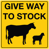 600x600 - Corflute - Give Way To Stock (with Picto)