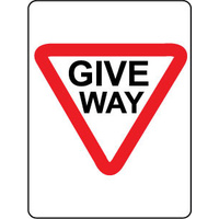 600x450mm - Corflute - Give Way Triangle