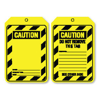 Pkt of 100 Cardboard - Caution Blank