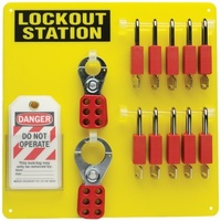 6 Lock Lockout Station with Supplies