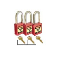 42mm Premium Safety Padlocks - Set of 3 - Keyed Alike