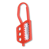 Economy Red Nylon Lockout Hasp (3 Hole)