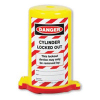Cylinder Lockout - Danger Cylinder Locked Out  (Red)