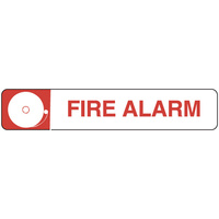 300x100mm - Self Adhesive - Fire Alarm (with pictogram)