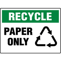 450x300mm - Poly - Recycle Paper Only