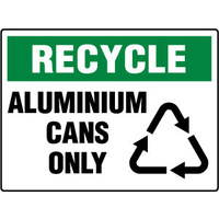 450x300mm - Poly - Recycle Aluminium Cans Only