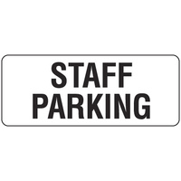 450x200mm - Poly - Staff Parking