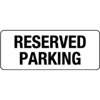 450x200mm - Poly - Reserved Parking